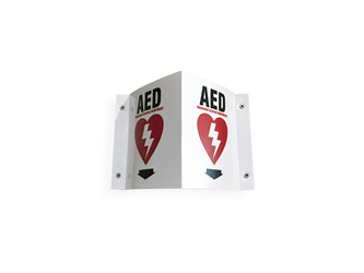 Rótulo de Pared para DEAs (Puerto Rico)  zoll aed plus wall sign, wall sign aed, aed plus wall sign, rotulo, dea
