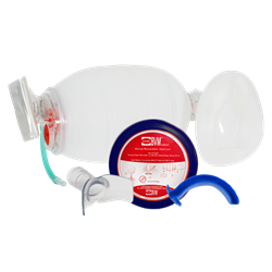 BVM con NuMask de Bolsillo  IOM/OPA (NATO Protector Azul)  persys, persys medical, intraosseous, AIRWAY, BVM, pocket bvm, manual resusitation